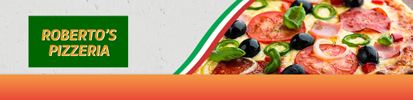 Robertos pizza Bundbanner